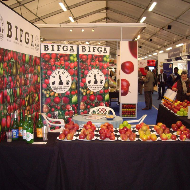 Bifga at the National Fruit Show